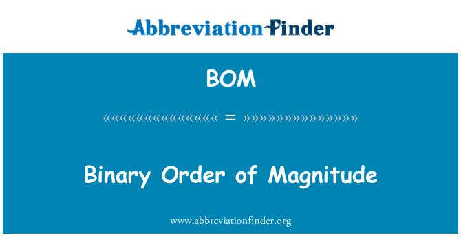 BOM: Binary Order of Magnitude