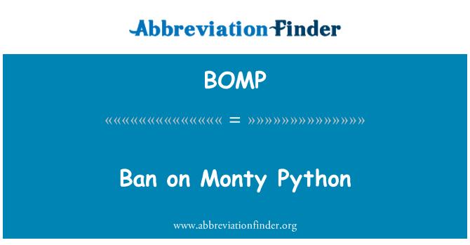 BOMP: Prohibición de Monty Python