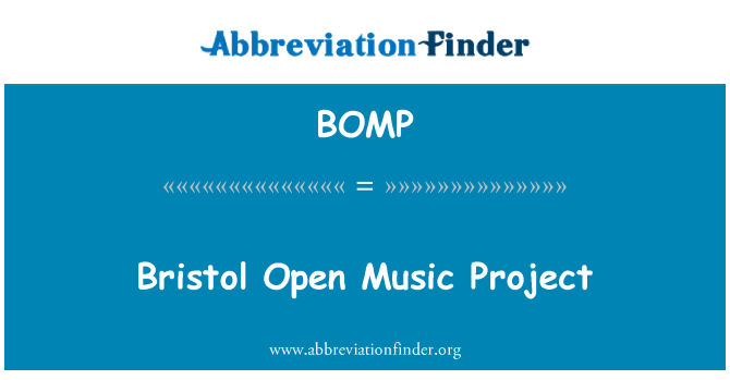 BOMP: Proyecto de música abierta de Bristol