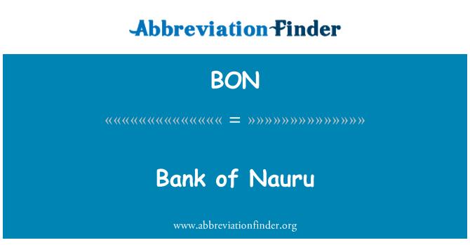 BON: Bank of Nauru