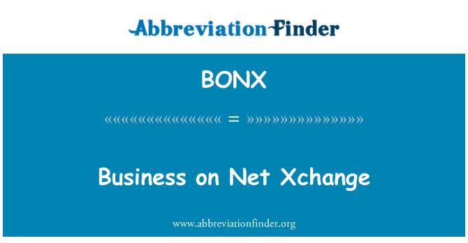 BONX: Business on Net Xchange