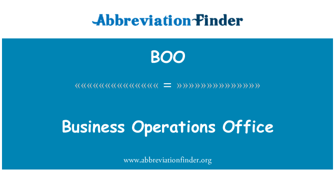 BOO: Business Operations Office