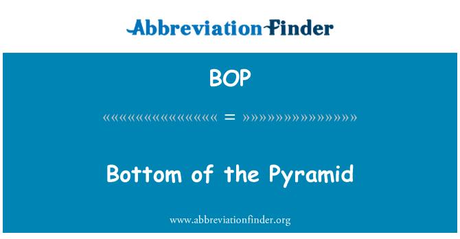 BOP: Bottom of the Pyramid