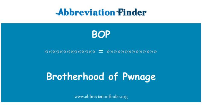 BOP: Brotherhood of Pwnage