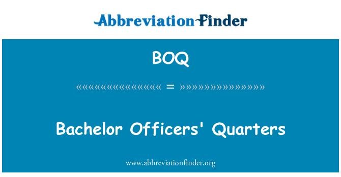 BOQ: Bachelor Officers' Quarters