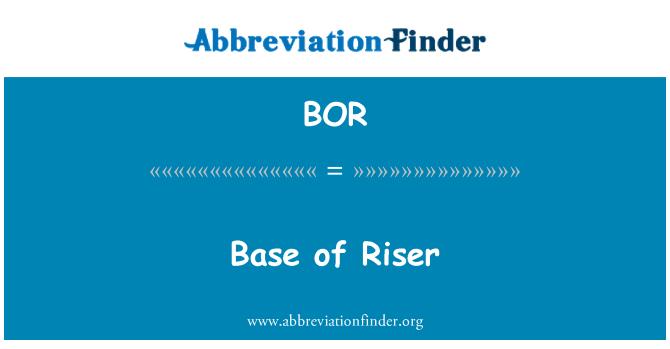 BOR: Base of Riser