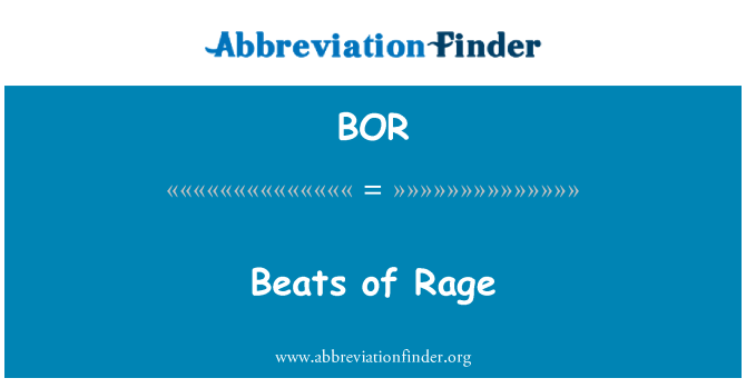 BOR: Beats of Rage