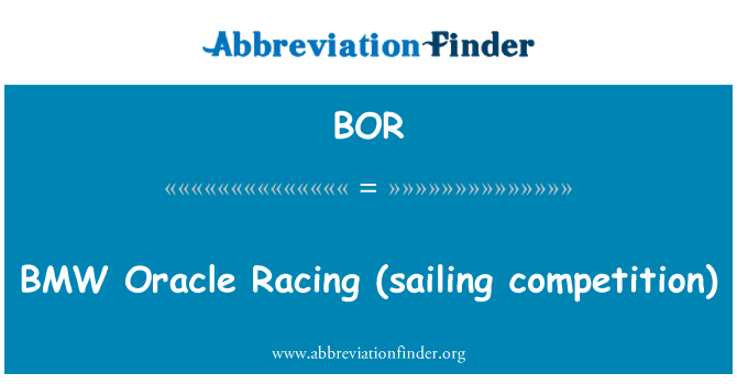 BOR: BMW   Oracle Racing (sailing competition)
