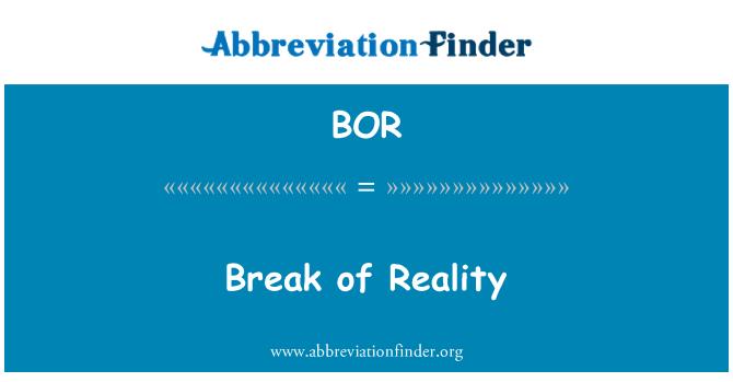 BOR: Break of Reality