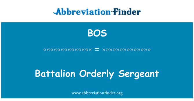 BOS: Battalion Orderly Sergeant
