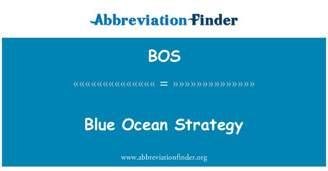 BOS: Blue Ocean Strategy