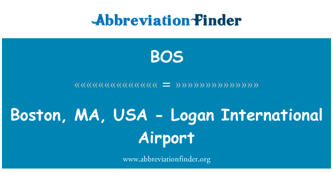 BOS: Boston, MA, USA - Logan International Airport