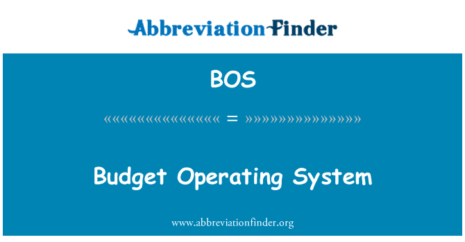 BOS: Budget Operating System