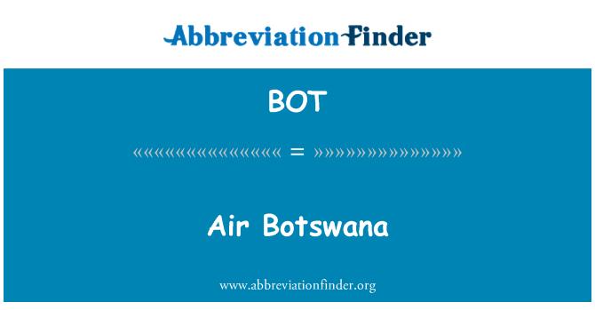BOT: Air Botswana