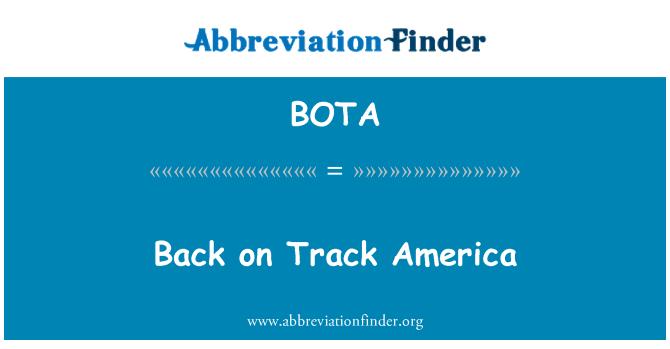 BOTA: Volver a pista América