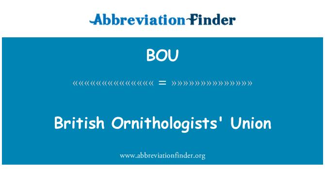 BOU: British Ornithologists' Union