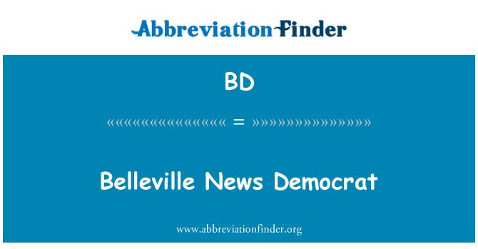 BD: Belleville berita Demokrat