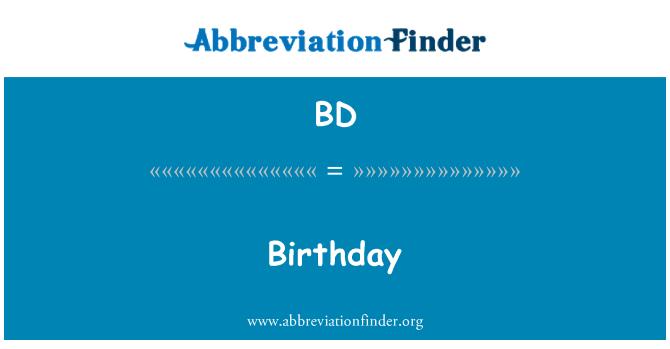 BD: Sünnipäev