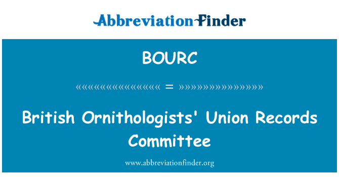 BOURC: British Ornithologists' Union Records Committee