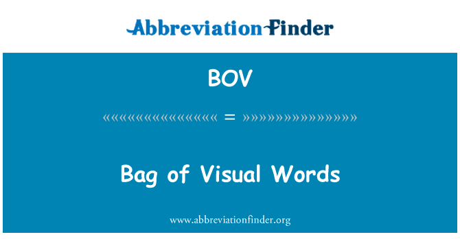 BOV: Bag of Visual Words