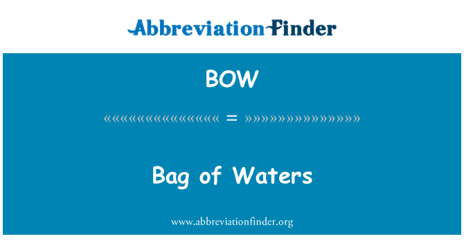 BOW: Bag of Waters