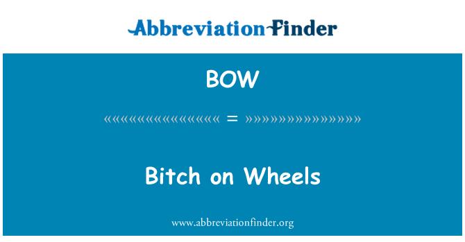 BOW: Bitch on Wheels