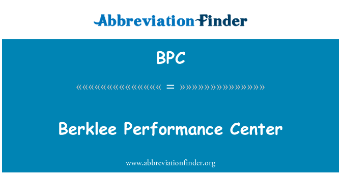 BPC: Berklee Performance Center