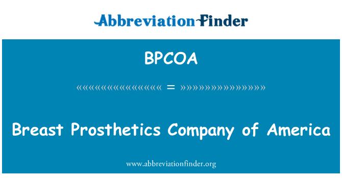 BPCOA: Breast Prosthetics Company of America