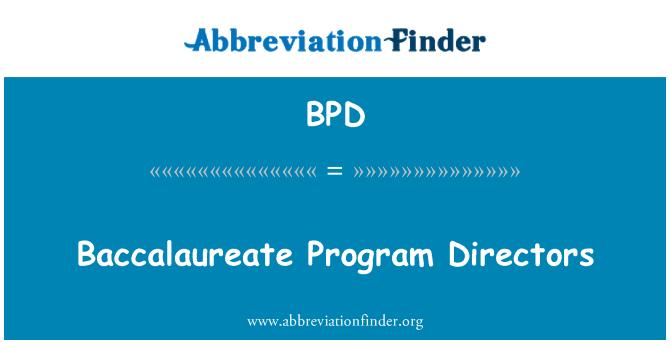 BPD: Directores del programa de bachillerato