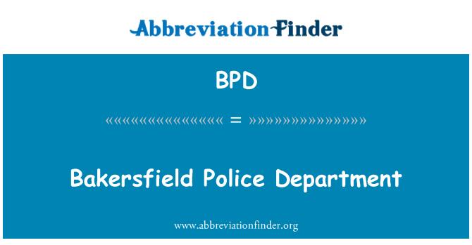 BPD: Departamento de policía de Bakersfield