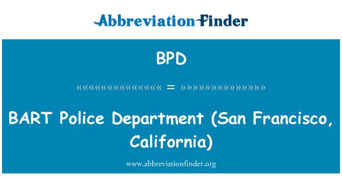 BPD: BART politseijaoskond (San Francisco, California)