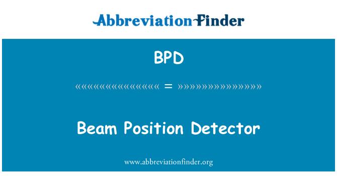 BPD: Tala positsiooni detektor