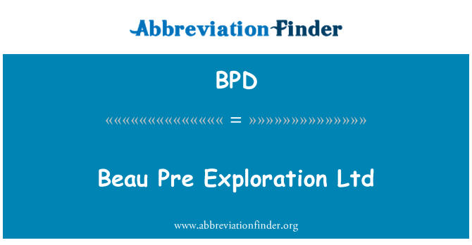 BPD: Beau Pre raziskovanje Ltd