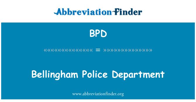 BPD: Bellingham politseijaoskond