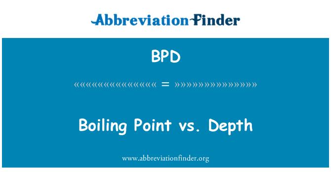 BPD: Punto de ebullición vs profundidad