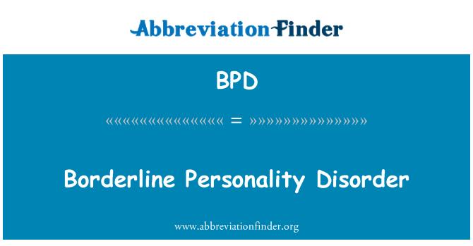 BPD: Borderline isiksusehäire