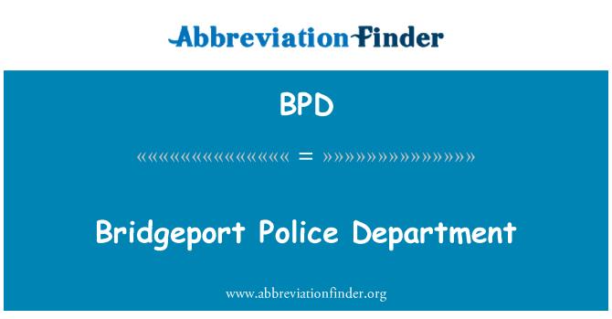 BPD: Departamento de policía de Bridgeport