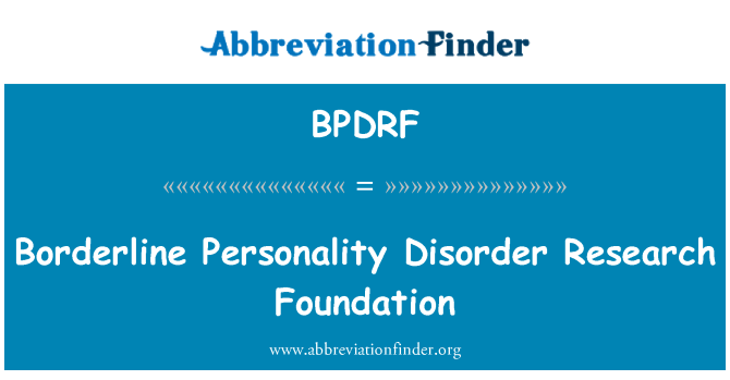 BPDRF: Borderline Personality Disorder Research Foundation