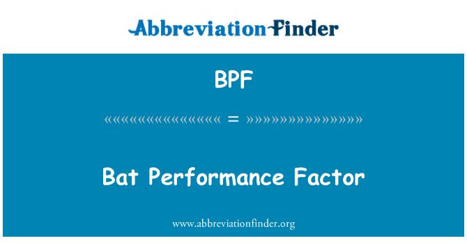 BPF: Bat Performance Factor