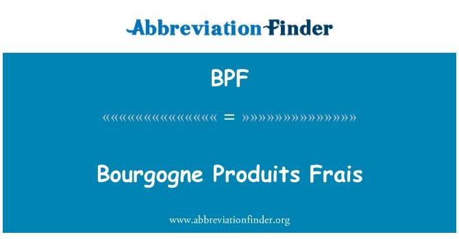BPF: Bourgogne Produits Frais