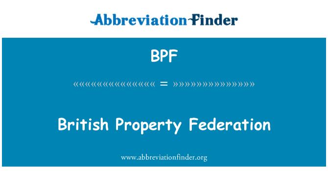 BPF: British Property Federation
