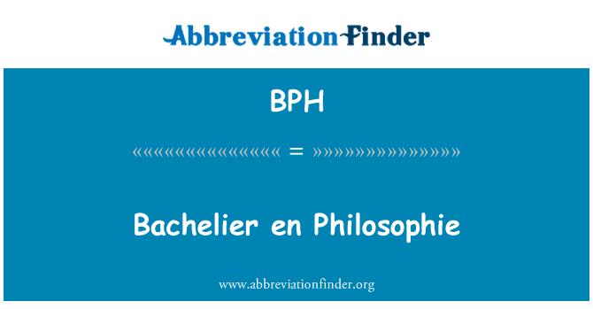BPH: Bachelier en Philosophie