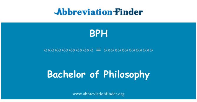 BPH: Bachelor of Philosophy