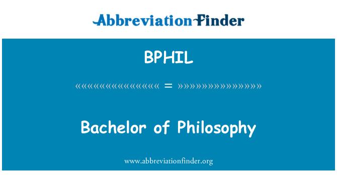 BPHIL: Bachelor of Philosophy