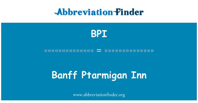 BPI: Banff Ptarmigan Inn