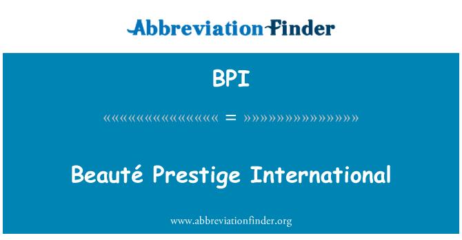 BPI: Beauté Prestige International