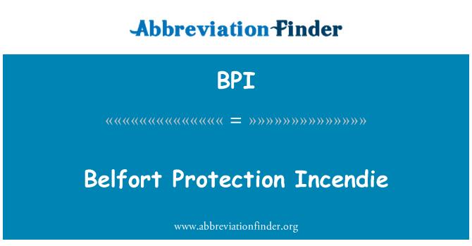 BPI: Belfort Protection Incendie