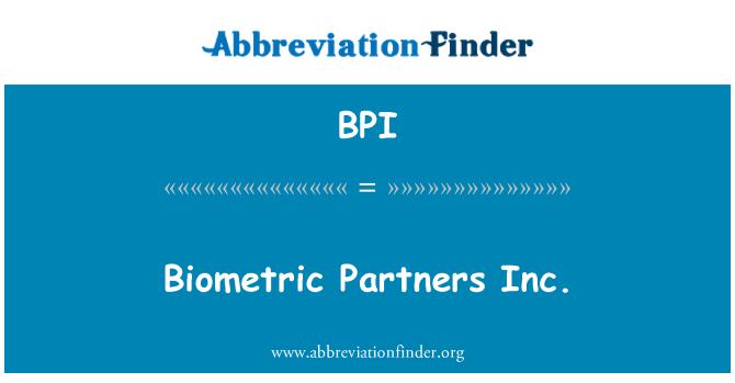 BPI: Biometric Partners Inc.