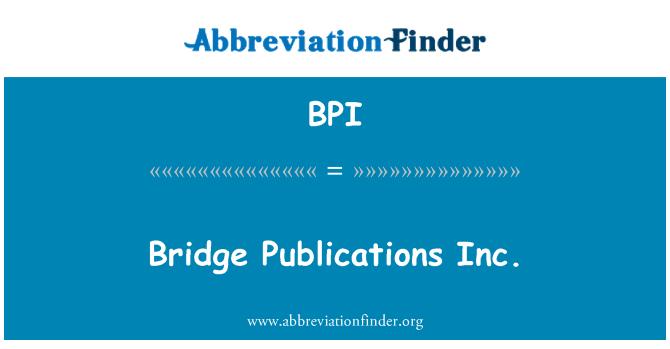 BPI: Bridge Publications Inc.