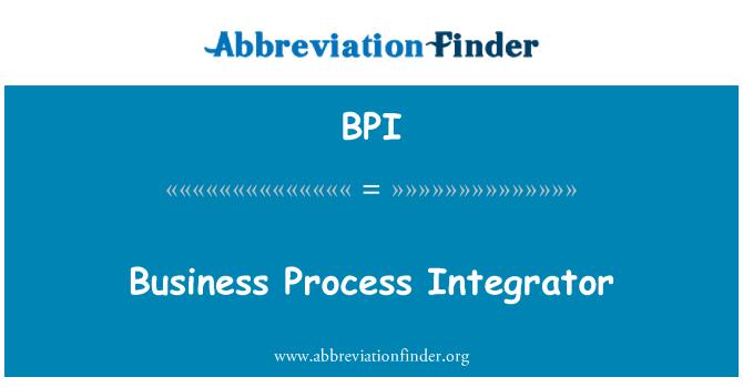 BPI: Business Process Integrator